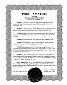 Humboldt Proclamation