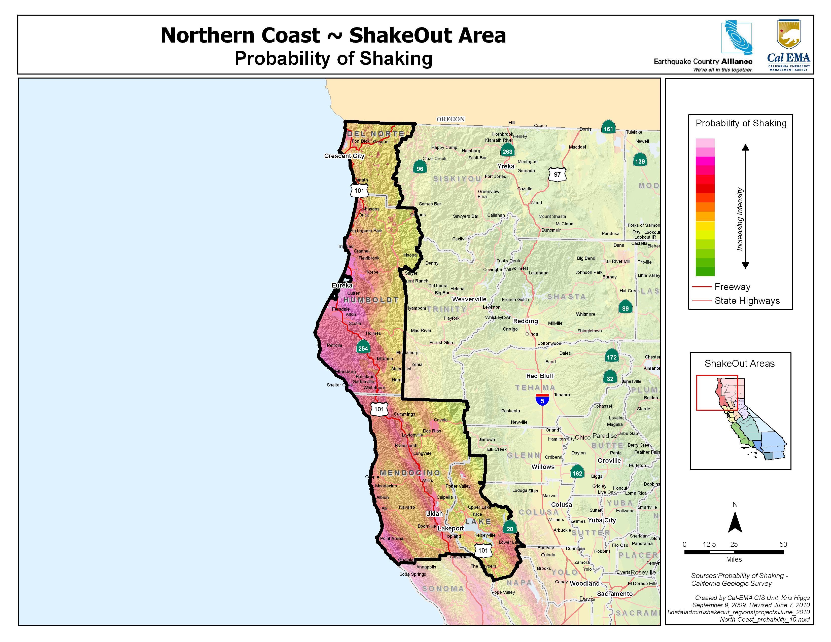 Earthquake San Diego >> The Great California ShakeOut - North Coast area