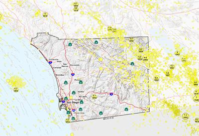 San Diego Area Epicenters