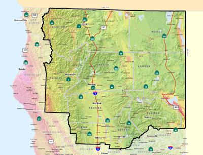 Shasta Cascade Area Shaking Potential