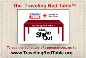 Traveling Red Table