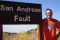 David Bowman at the San Andreas Fault