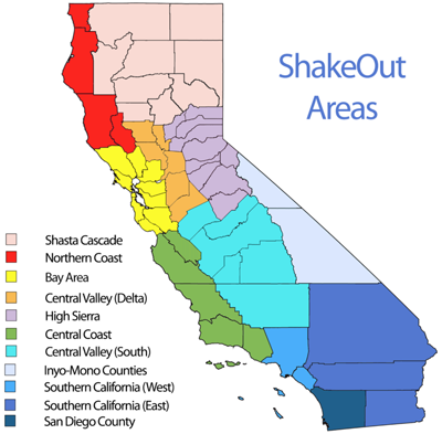 ShakeOut Area Map
