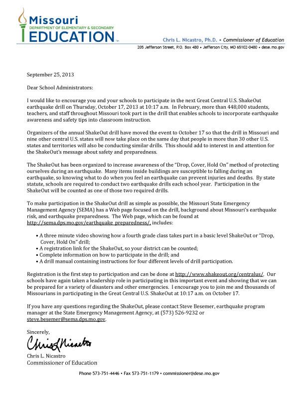 Proclamation Letter