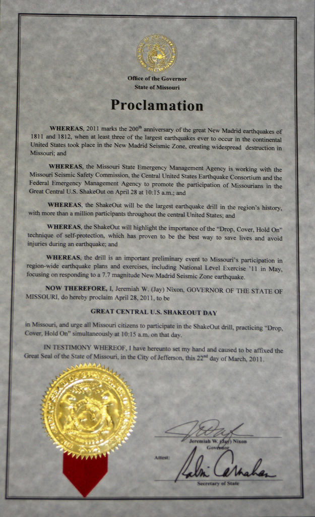 Proclamation Letter