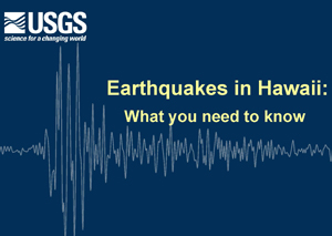 Earthquakes in Hawaii presentation first slide image