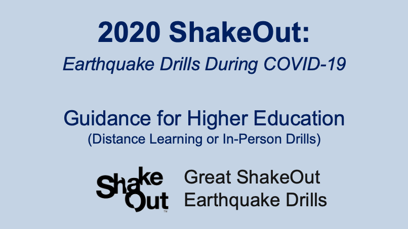 Higher Education ShakeOut Intro Slide