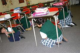 5th grade students at St. Maria Goretti School, Long Beach, CA