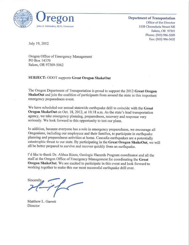 ODOT Support Letter